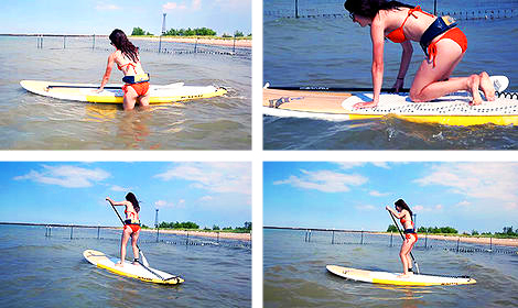 Stand-Up Paddle Board Balancing