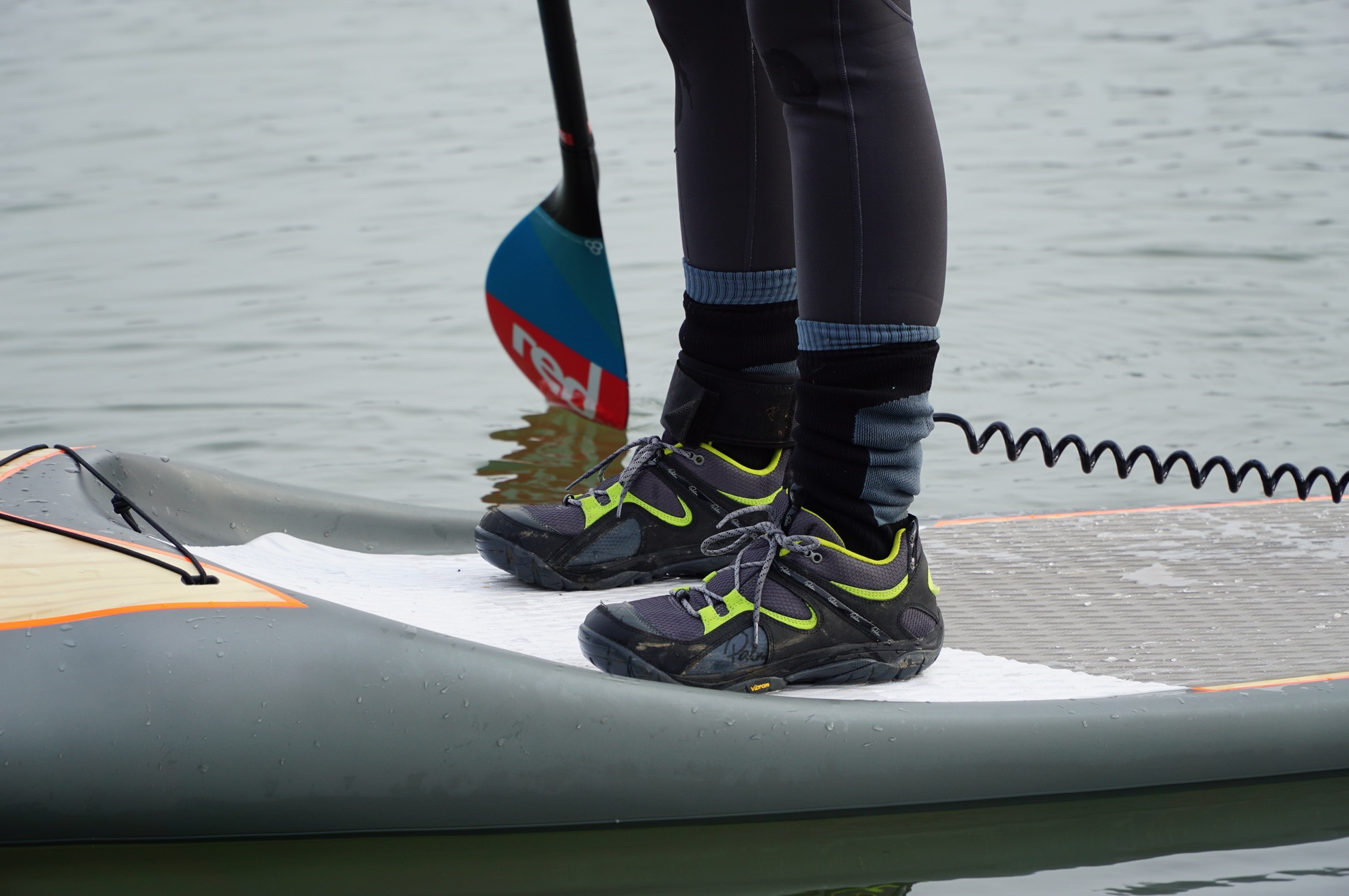 What to wear on your feet paddleboarding? - trainers