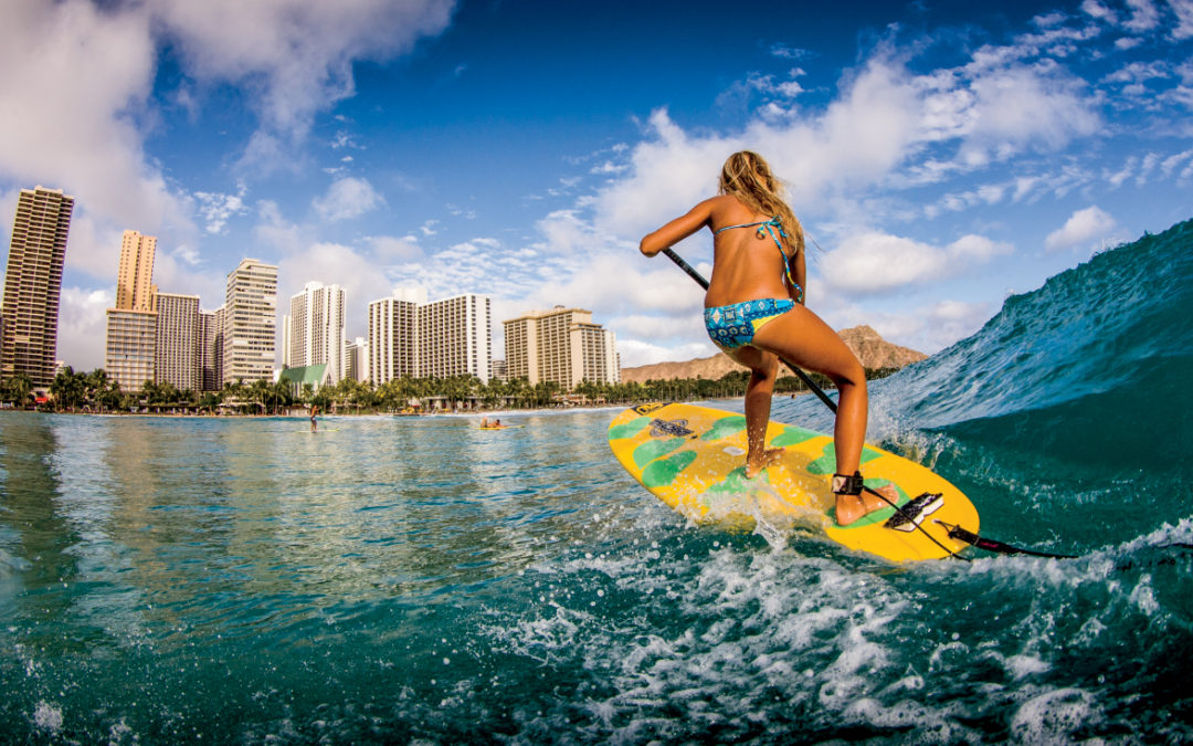 Experience the Beauty of Waikiki on  A SUP or Chilling On The Shores